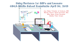 Using Naviance for SSPs and Lessons