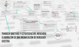TRADUCIR OBJETIVOS Y ESTRATEGIAS DEL MERCADEO