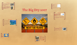 Australia Drought- The Big Dry 2007