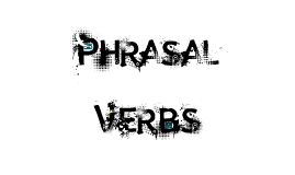 Pharasal Verb
