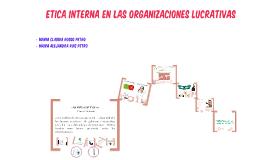 ETICA EN LAS ORGANIZACIONES LUCRATIVAS