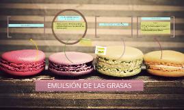 EMULSIÓN DE LAS GRASAS