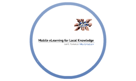 Mobile eLearning + Local Knowledge