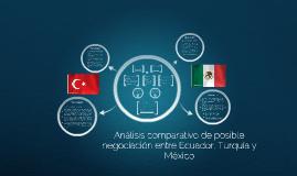Análisis de posible negociación con Turquía y México