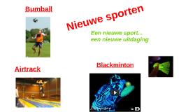Nieuwe sporten