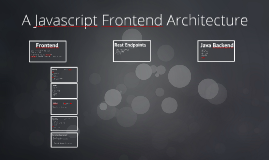 A Javascript Frontend Architecture