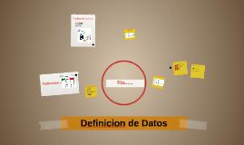 Definicion de Datos