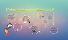 El efecto Doppler temporal (Caruso, 2013)