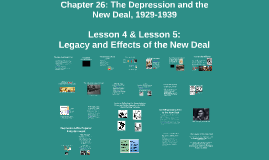 Chapter 26 Lessons 4&5: The Depression and the New Deal, 1929-1939