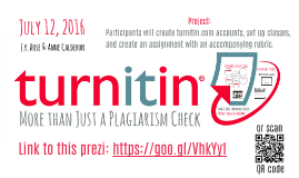 Turnitin.com: More than just a plagiarism check