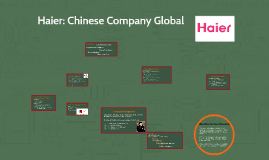 Copy of Haier: Taking a Chinese Company Global in 2011