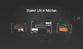 Student Life in Pakistan