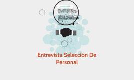 ENTREVISTA DE SELECCION DE PERSONAL
