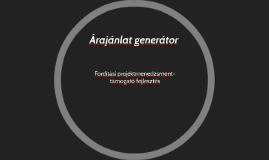 Árajánlat generátor