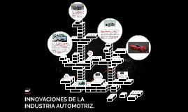 INOVACIONES DE LA INDUSTRIA AUTOMOTRIZ.