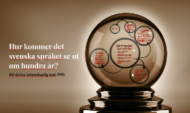 Hur kommer det svenska språket se ut om hundra år?