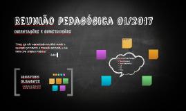 Reunião pedagógica 01/2017