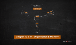 Chapter 13 & 14 - Organization & Delivery