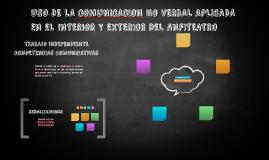 USO DE LA COMUNICACION NO VERBAL APLICADA EN EL INTERIOR Y E