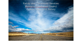 Illawarra Shoalhaven Culture Snap Shot Survey