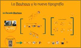 Bauhaus y la nueva tipografía