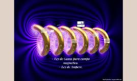 - Ley de Gauss para campo magnetico.