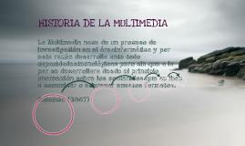 historia de la multimedia:)