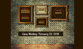 Class Meeting: February 22, 2017
