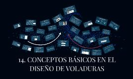 14. CONCEPTOS BÁSICOS EN EL DISEÑO DE VOLADURAS