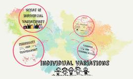 Individual Variations