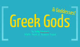 Greek Gods by Reilly Scheppers
