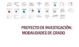 PROYECTO DE INVESTIGACIÓN MODALIDADES DE GRADO