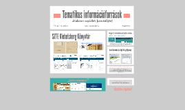 Tematikus információforrások