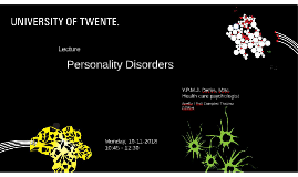 Lecture Personality Disorders 2nd year BCH UT