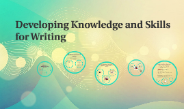 Copy of Developing Knowledge and Skills for Writing