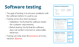 Validation, Verification, and Testing