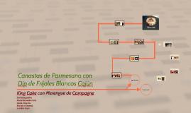 Canastas de Parmesano con Dip de Frijoles Cajún