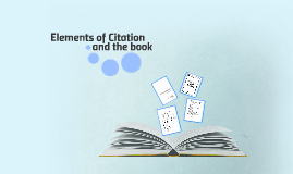 Elements of a Bibliograpahic Citation