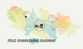 Feliz Cumpleaños Claudia!