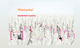 Poetry Unit Introduction