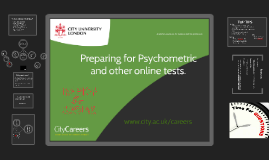 Preparing for  Psychometric and other online tests