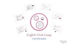 Copy of English Final Essay