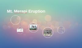 Mt. Merapi Eruption