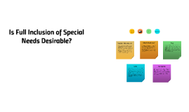 Is Full Inclusion of Special Needs Desirable?