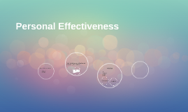 Personal Effectivness