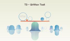 T3 - Written Test