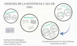 Copy of ANALISIS DE LA SENTENCIA C 221 DE 1994