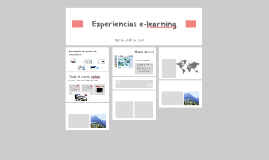 Experiencias e-learning