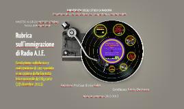 Rubrica sull'immigrazione di Radio A.I.E.