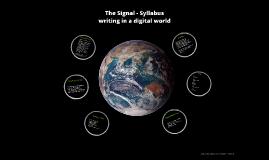 The Signal - Syllabus
